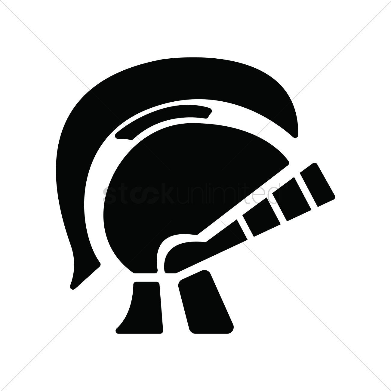 1300x1300 Roman Soldier Helmet Vector Image