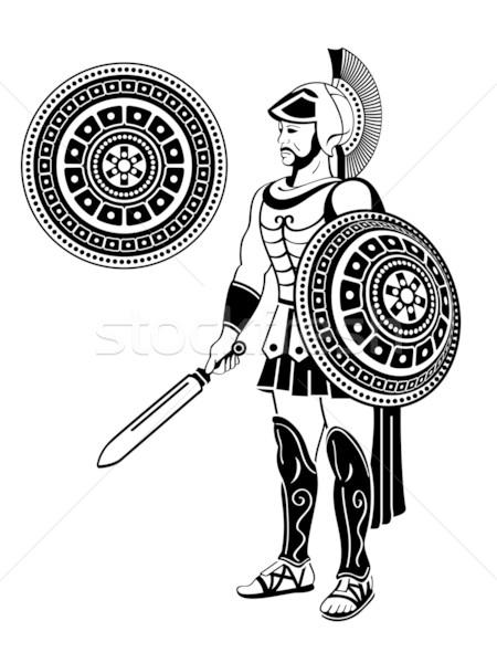 450x600 Roman Warrior Vector Illustration Sahua ( 1235115) Stockfresh