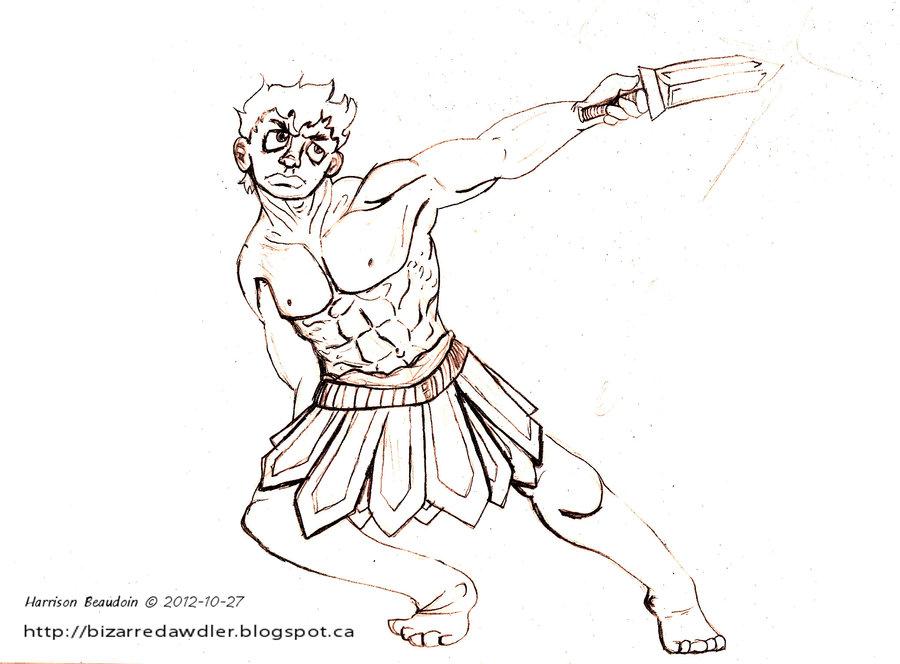 900x664 The Roman Warrior By Bizarredawdler