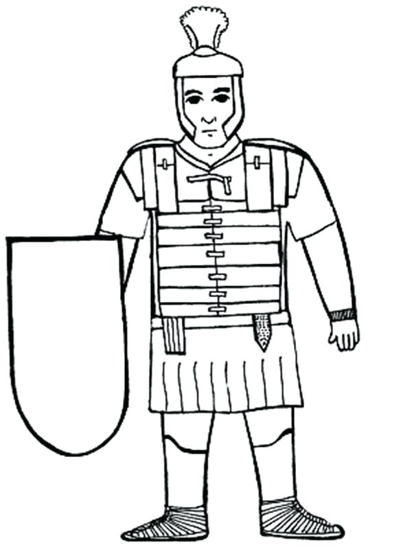 600x797 Roman Soldier Coloring Page