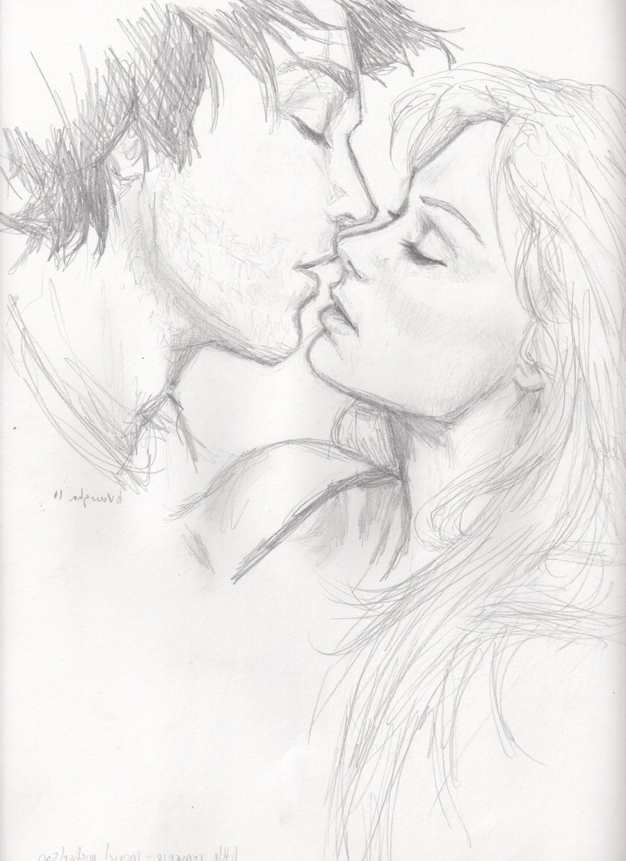 900x1238 Pencil Sketch Of Romance Without Face Little Romance By Burdge