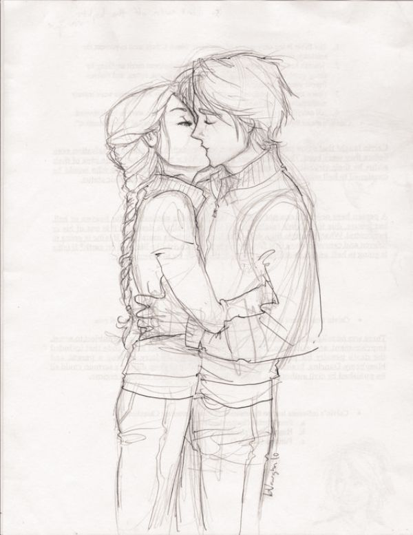 600x777 40 Romantic Couple Pencil Sketches And Drawings Romantic Couples