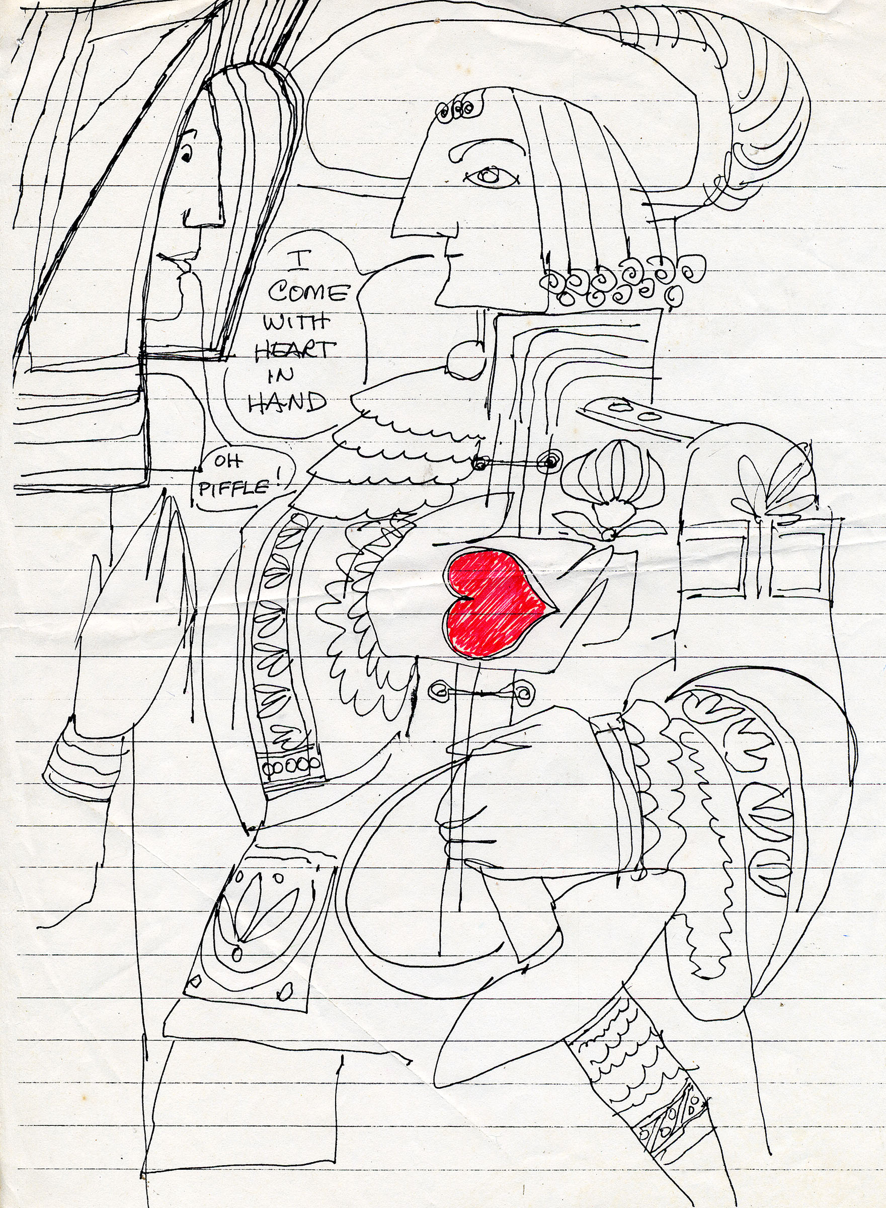 1761x2400 Joan Gillman Smith, Heart In Hand, Another Doodle On A Scrap