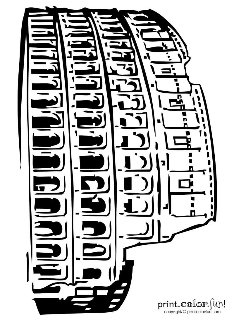 800x1100 Roman Colosseum Coloring Page