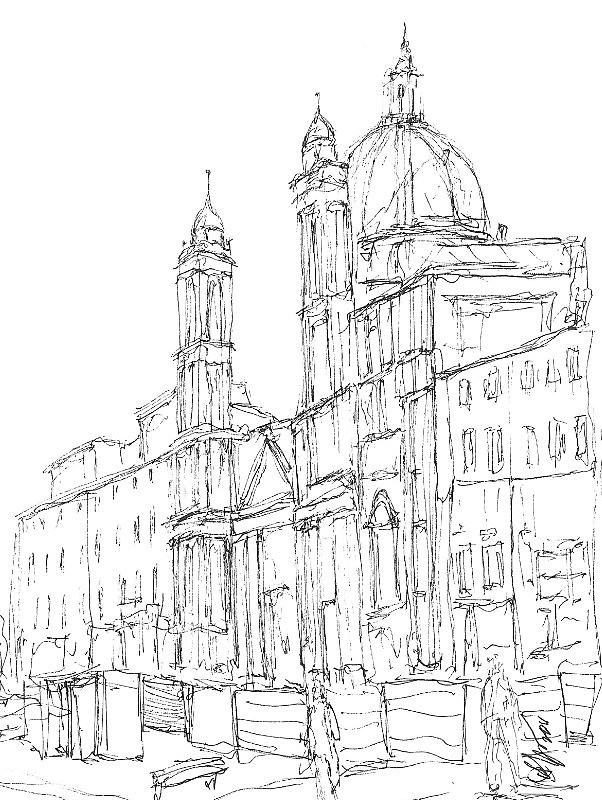 602x800 Sant'Agnese In Agone, Rome By David Hargreaves Redbubble