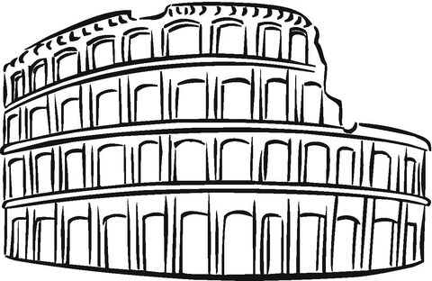 480x312 The Colosseum Coloring Page Vbs Coloring Pages