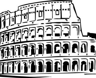 336x274 Coliseum In Rome Viewed From The Air Vector Clip Art Free Vector