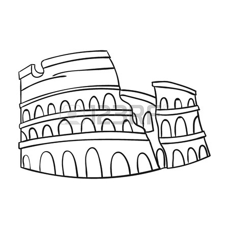 450x450 Colosseum In Italy Icon In Outline Style Isolated On White