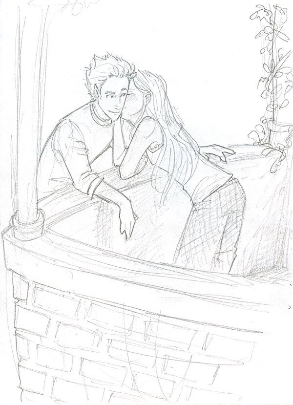 Romeo And Juliet Balcony Drawing
