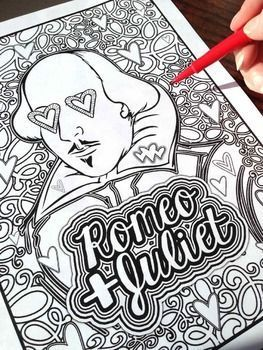 263x350 Romeo amp Juliet Shakespeare Coloring Pages Shakespeare, English