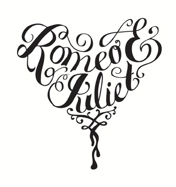 360x383 Romeo and Juliet by Kelly Thorn type Pinterest Typography