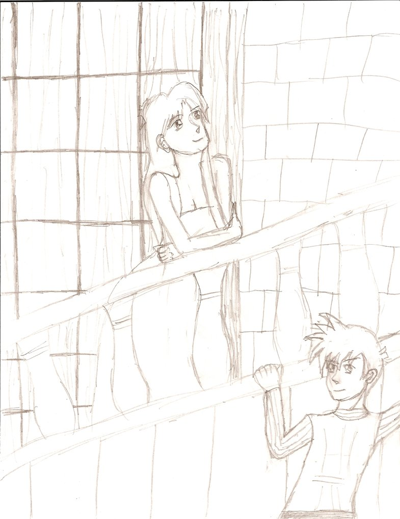 785x1018 Balcony Scene Ran and Shinichi by VampireAnimeDeviant on DeviantArt