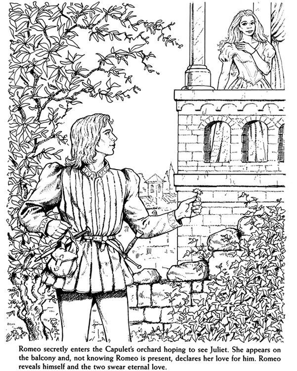 601x750 Romeo And Juliet Coloring Pages Coloring Page For Kids