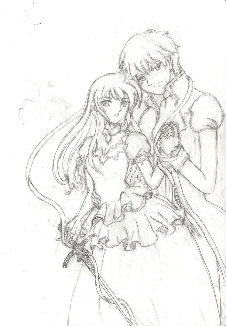 744x1074 Romeo X Juliet Sketch By 6wendybird91