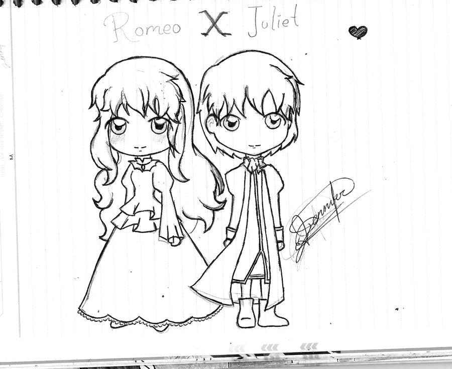 900x735 Romeo X Juliet Chibi By Jennyhpp