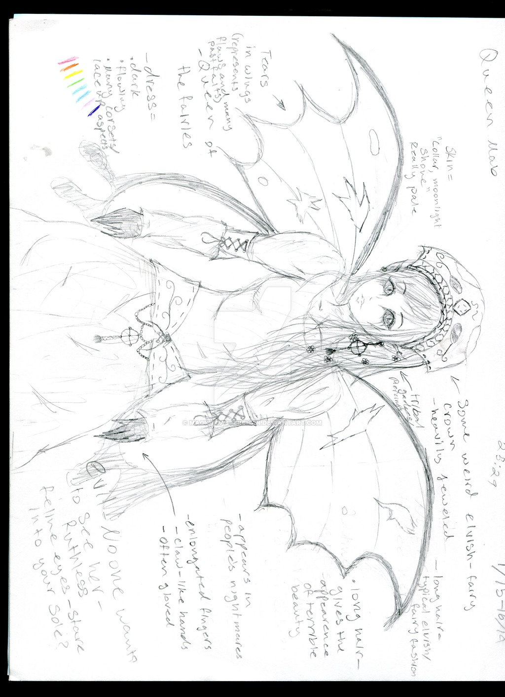 1024x1412 My Rough Sketch Of Queen Mab (Romeo And Juliet) By