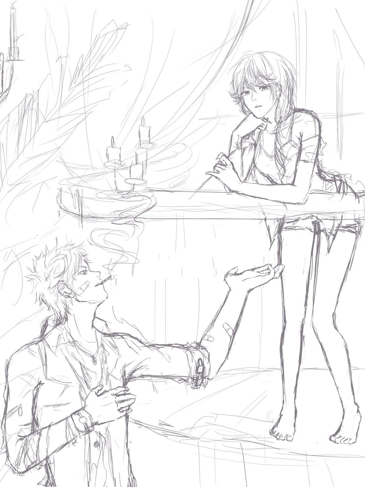 1200x1600 StickyLeaf#39s Sketch Blog Modern Romeo and Juliet