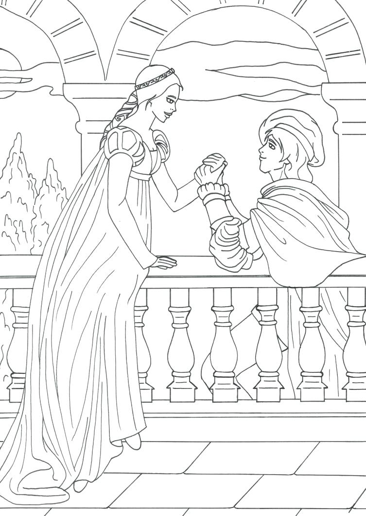 753x1060 coloring Gnomeo And Juliet Coloring Pages