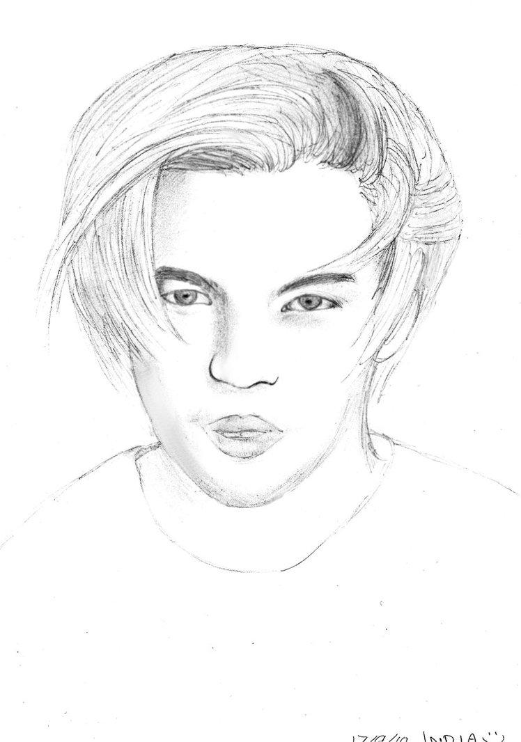 748x1066 Leonardo Dicaprio Sketch By Tidusxyunax
