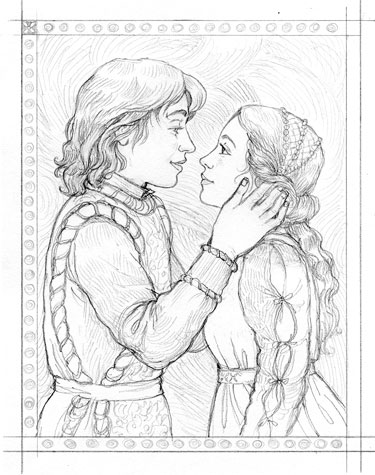 375x475 Busy Drawing Illustration Blog Romeo And Juliet (And Process)