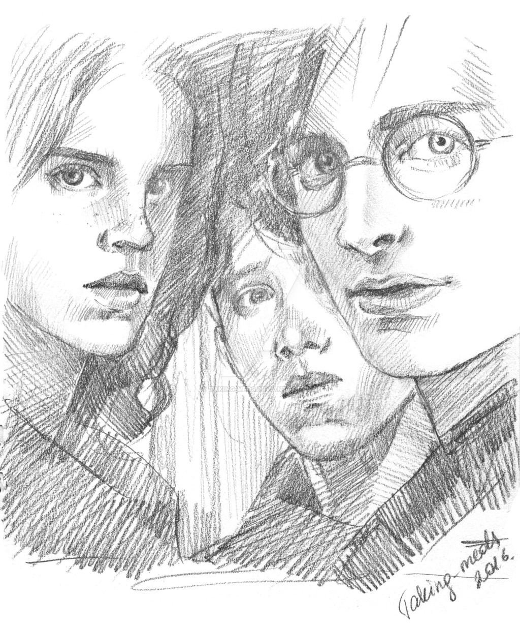 1024x1231 Harry Potter, Hermione Granger, Ron Weasley By Taking Meds