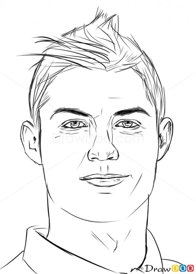 665x927 How To Draw Cristiano Ronaldo