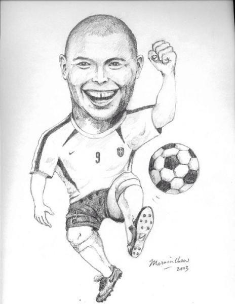 464x600 Ronaldo Fenomeno Fan On Twitter Awesome Drawing Of Ronaldo