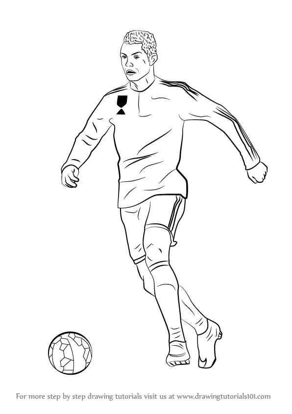 596x843 Step By Step How To Draw Cristiano Ronaldo