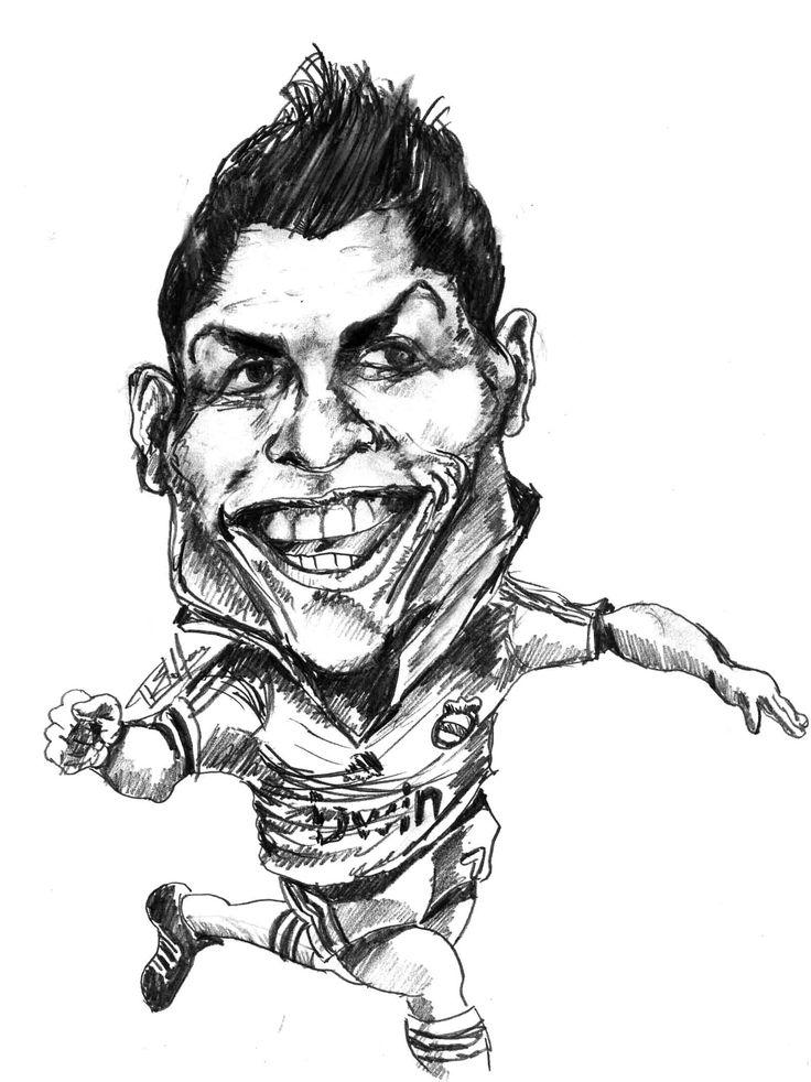 736x982 Christiano Ronaldo Caricatures
