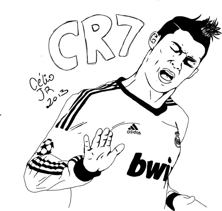916x873 Cristiano Ronaldo Easy Drawing