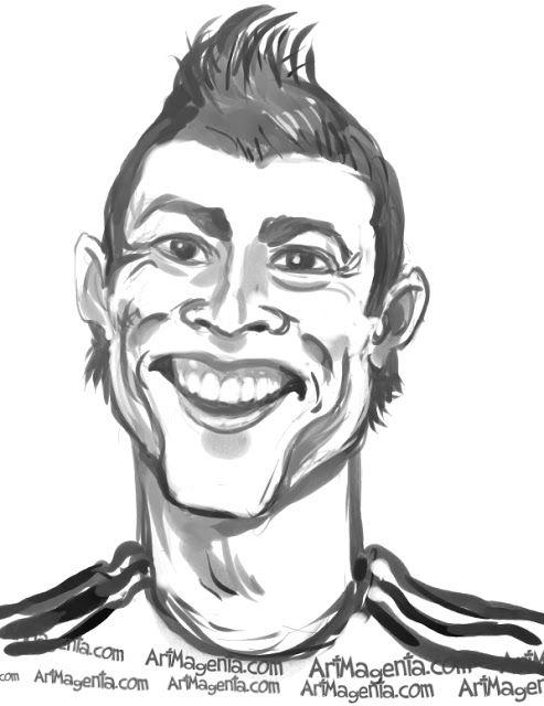 493x640 Cristiano Ronaldo Caricatures Cristiano Ronaldo