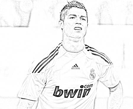 Coloriage Foot Cr7.The Best Free Ronaldo Drawing Images Download From 184 Free