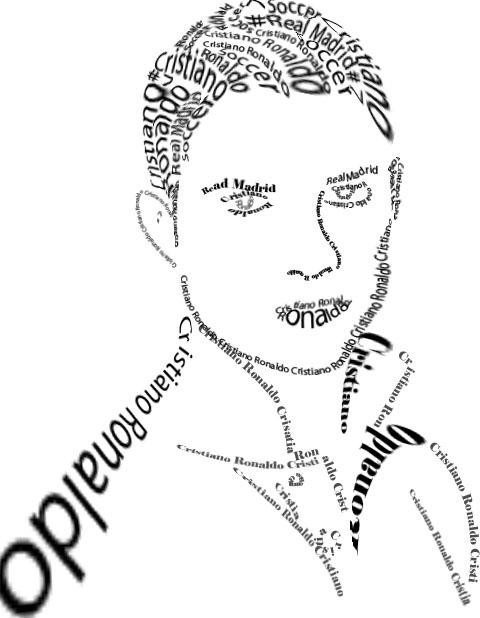 480x618 Typography Portrait Yasgargraphics