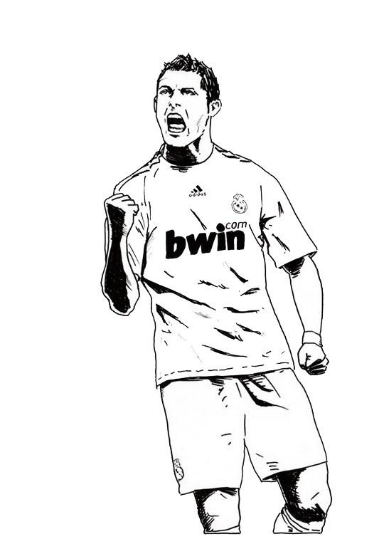 540x757 Cristiano Ronaldo Real Madrid Coloring Soccer Player Sheet Sport