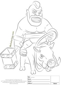 236x333 How To Draw Clash Of Clans Barbarian Step 14 Crafts