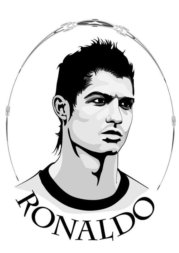 620x875 Coloring Page Ronaldo