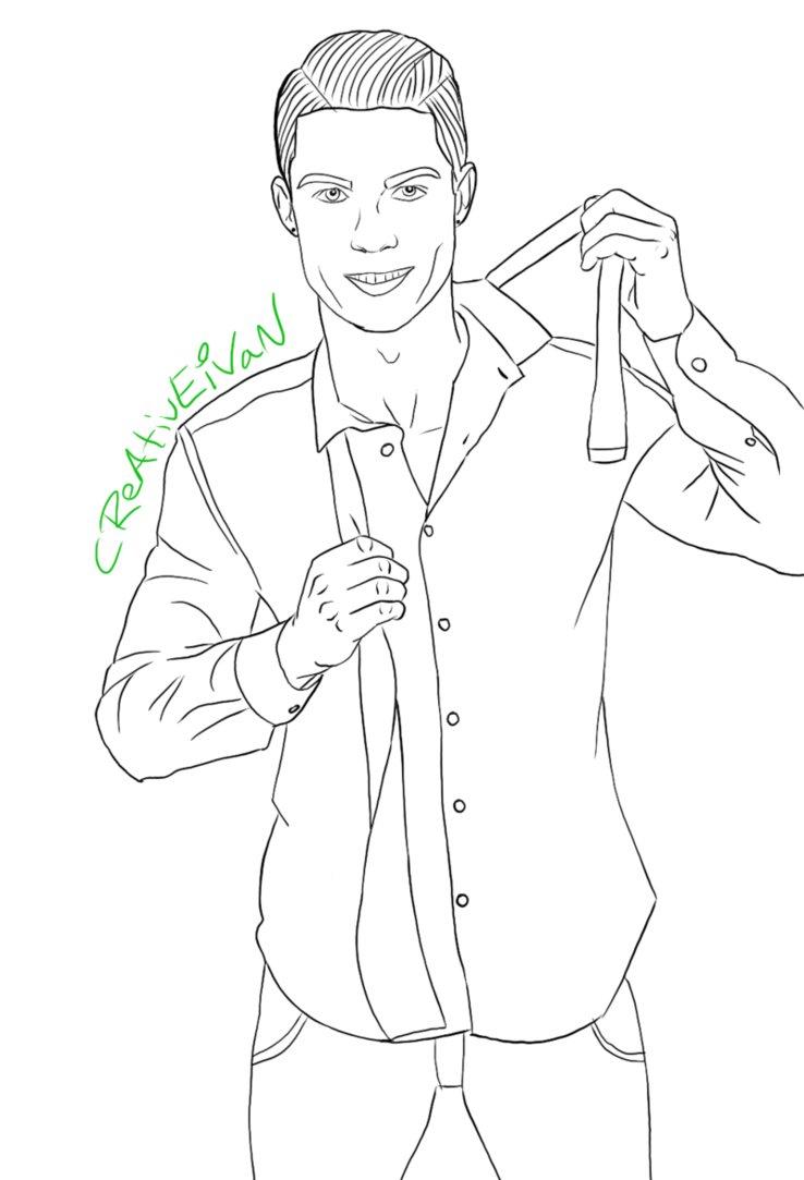 738x1083 Cristianio Ronaldo Drawing By Creativeivan