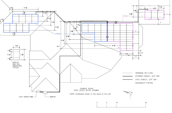 700x460 Example Roof Layout Detail Drawing
