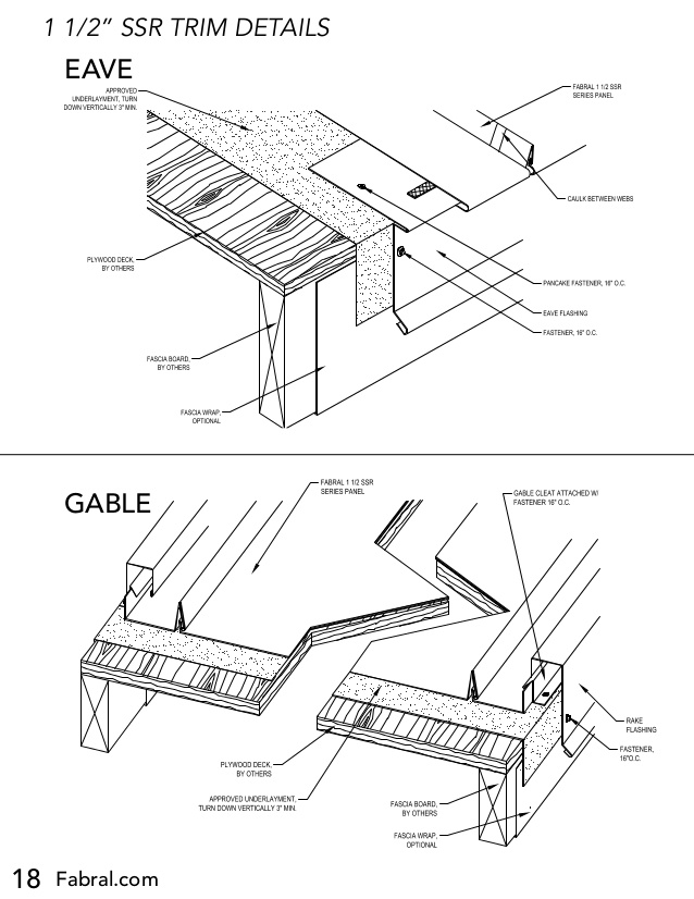 638x826 Fabral Ssr Metal Roofing Installation Manual