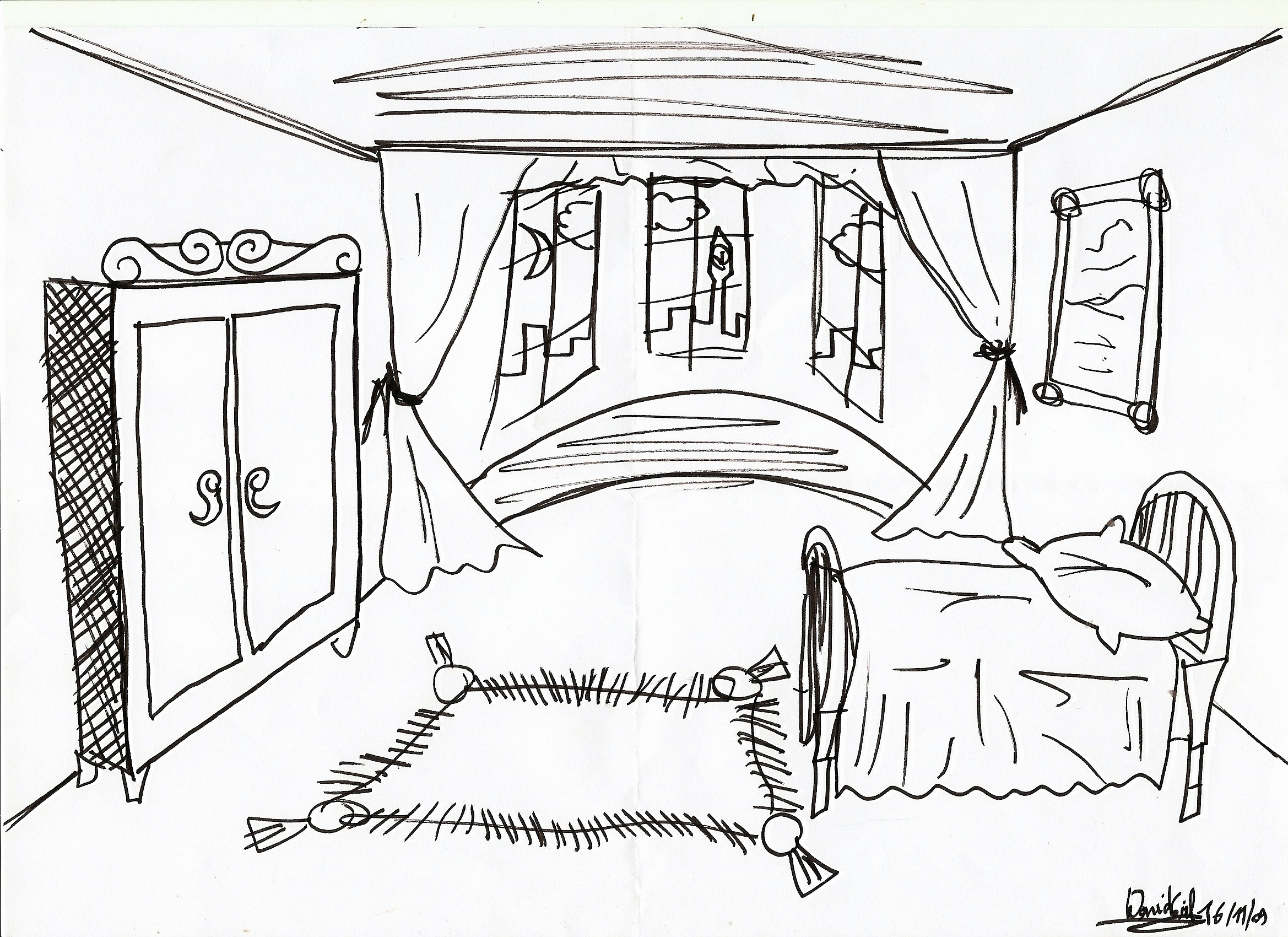 2338x1700 Inspirational Drawing Of Kid Room
