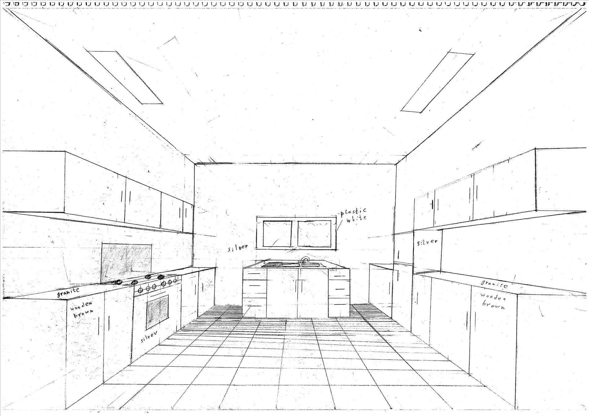 1900x1343 Kitchen Line Drawings Home Design Pictures