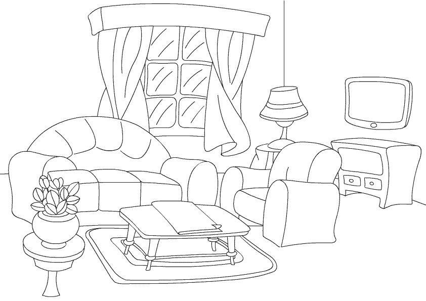 842x595 Color Living Room Print And Color Activities For Kids. East Style
