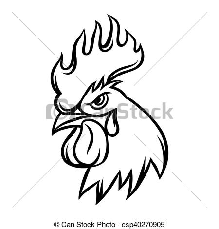 450x470 Drawing Of Rooster Stock Illustrations. 2,299 Drawing Of Rooster