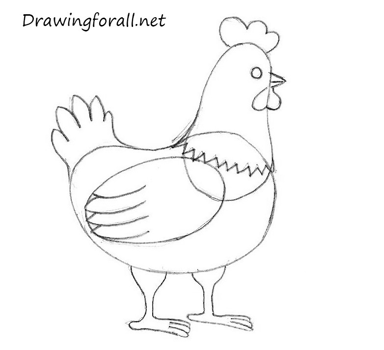 782x713 Drawn Rooster Easy