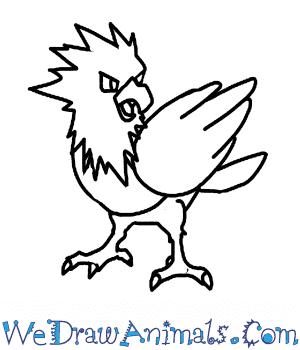 300x350 How To Draw Spearow Pokemon
