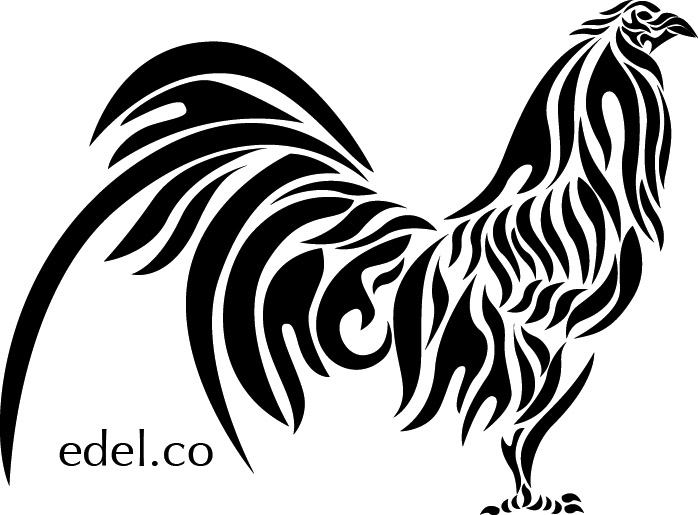698x515 Rooster Dot Drawing. Ornamental Rooster Drawingby Alekup325270