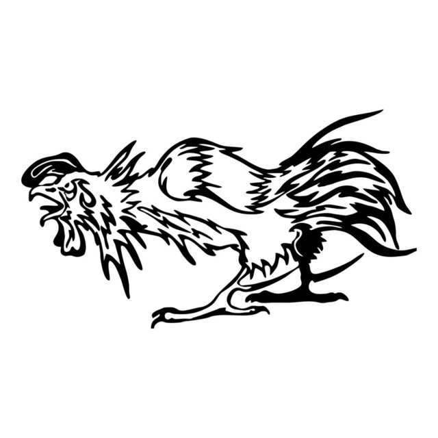 Rooster Fight Drawing