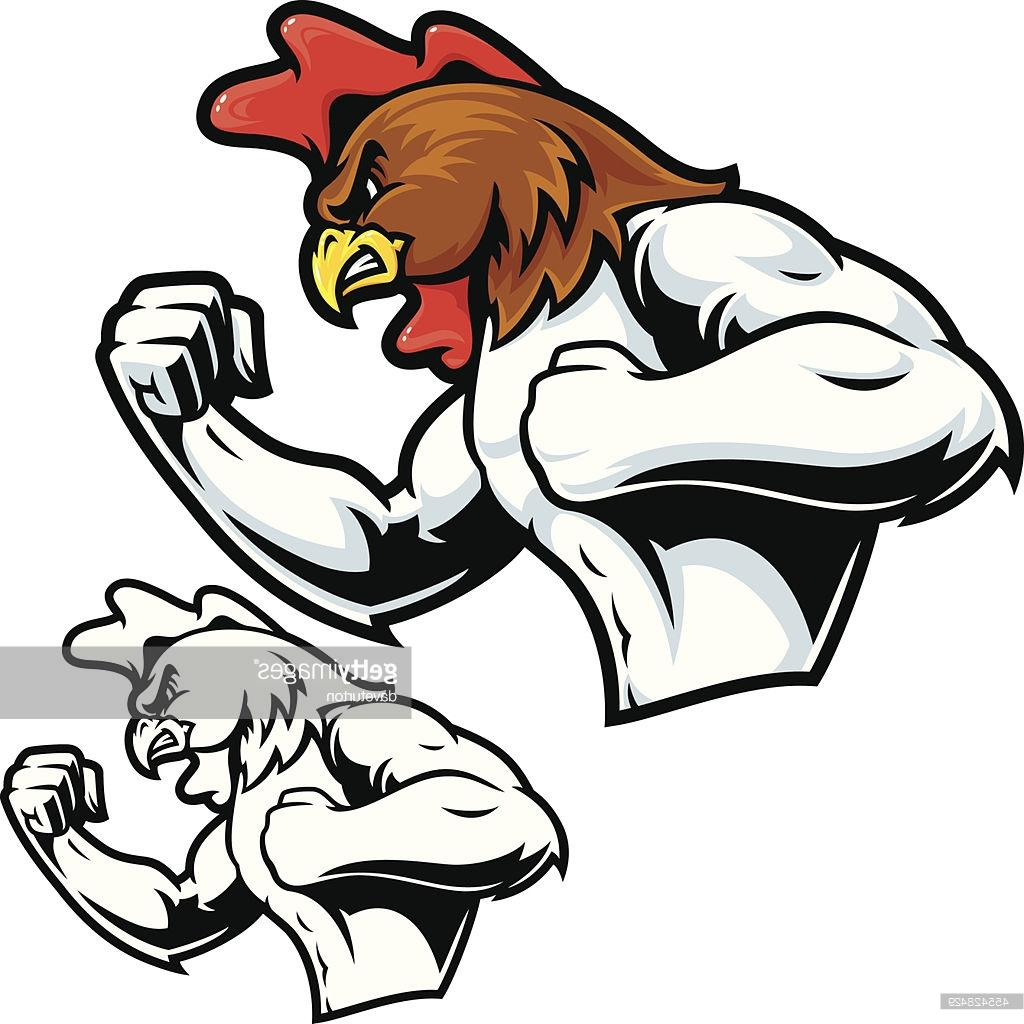 1024x1024 Best Hd Fighting Rooster Mascot Vector Library