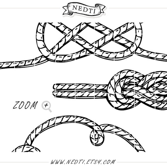 Rope Knot Drawing