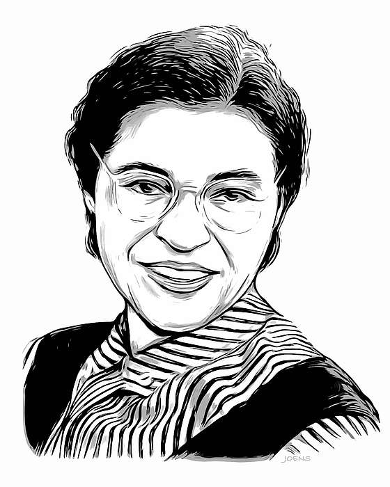 560x700 Portrait Of Us Civil Rights Leader, Rosa Parks. Celebrity Fan